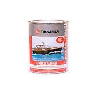 Лак алкид-уретановый TIKKURILA UNICA SUPER яхтовый, полуглянцевый, 0,9л