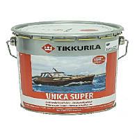 Лак алкид-уретановый TIKKURILA UNICA SUPER яхтовый, полуглянцевый, 9л