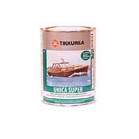 Лак алкид-уретановый TIKKURILA UNICA SUPER яхтовый, полуматовый, 0,9л