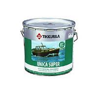 Лак алкид-уретановый TIKKURILA UNICA SUPER яхтовый, полуматовый, 2,7л