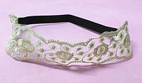 Прекрасная женская модная кружевная повязка для волос, широкая повязка в романтическом стиле