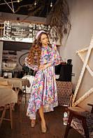 Красивое платье шифон цветы