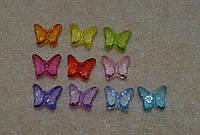 Бусины бабочки. акрил. 9 x 8 мм.