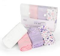 Подарочный набор женских хлопковых трусиков (4 шт в упаковку)