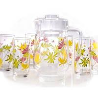 Стаканы LUMINARC CRAZY FLOWERS Набор для напитков G4621 (7 предметов)