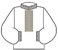 Мужская заготовка вышиванки под бисер или нитки 16
