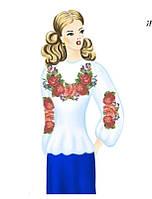 Заготовка женской вышиванки 057