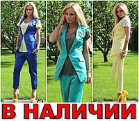 Брючный Костюм 2-ка ШАНЕЛЬ-Channel Коттон Мемори! 3 ЦВЕТА!