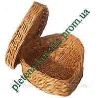 Плетена Шкатулка з лози сердце Арт.411.2