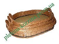 Набор плетеных подносов из лозы из 3 шт. Арт.591-3