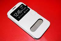 Кожаный чехол книжка для Huawei Ascend G730-U10 DualSim белый