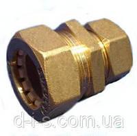 Муфта с уменьшением труба-труба 20х15 мм соединительная для трубы гофрированной из нержавеющей стали KOFULSO