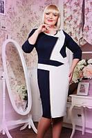 Платье женское батальное с фигурными вставками размеры 50,52,54,56,58