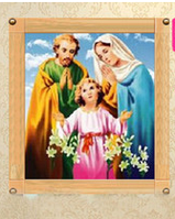 "Набор для рисования стразами ""Святое семейство"""