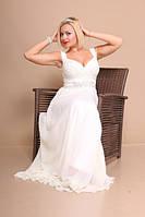 Вечернее платье Белое с поясом