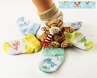 Детские зимние носочки для новорожденных Nanhai 301 Z. В упаковке 3 пары, фото 1
