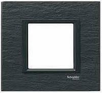 Рамка 1-постовая Черный камень Unica Class Schneider Electric (MGU68.002.7Z1)