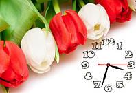 """Часы-картина """"Тюльпаны"""" 30х45 см красивый подарок"""