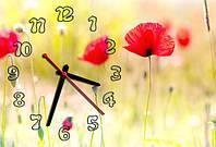 """Часы-картина """"Маки"""" 30х45 см красивый подарок на 8 Марта"""