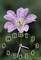 """Часы-картина """"Цветок"""" 30х45 см красивый подарок на 8 Марта"""