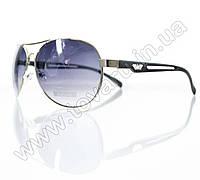Очки унисекс солнцезащитные - Armani - Серебряно-черные - 1606