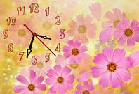 """Часы-картина """"Цветы"""" 30х45 см красивый подарок на 8 Марта"""