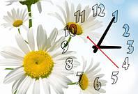 """Часы-картина """"Ромашки"""" 30х45 см красивый подарок на 8 Марта"""