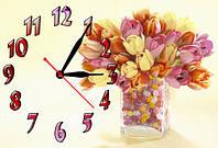 """Часы-картина """"Букет"""" 30х45 см красивый подарок"""