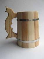 Бокал пивной деревянный