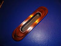 Врезная ручка на шкаф-купе медь