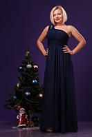 Вечернее платье с болеро синее