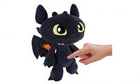 Дракон Беззубик - мягкая игрушка со звуковыми эффектами (30 см)