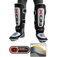 Накладки на ноги, защита голени RDX Leather. Доставка бесплатно! Черный