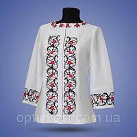 Женский пиджак с украинской вышивкой