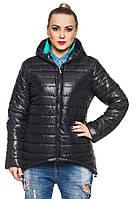 Черная куртка-парка женская стеганная