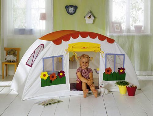 Детские домики своими руками из материала