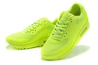 NIKE AIR MAX 90 HYPERFUSE салатовые / женские кроссовки / сетка / весна-осень