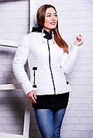 Куртка женская белая демисезонная Миранда размеры 42-52