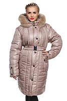 Стеганое женское пальто зимнее