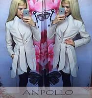 """Женское красивое белое пальто """"White"""""""