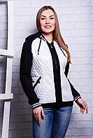Куртка женская демисезонная белая Кристи размеры 40-42