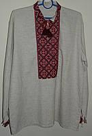 Мужская вышитая сорочка из льна SAM 0622