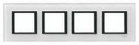 Рамка 4-постовая Белое стекло Unica Class Schneider Electric (MGU68.008.7C2)