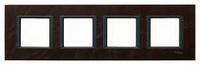 Рамка 4-постовая Кожа трюфель Unica Class Schneider Electric (MGU68.008.7P2)