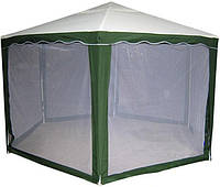 Шатёр-павильон со съемными москитными сетками, размеры 2х2х2 метра, высота – 2,6 под куполом, 6-тигранный