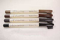 Карандаши косметические flormar eyebrow pencil, для визажа бровей, 4 цвета, щётка-расчёска, водостойкие