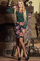 Платье Цветной воротничёк (батал)