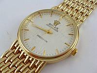 Мужские часы Rolex 3100G золото с серебром артикул 012660
