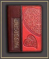 "Обложка на паспорт ""Горячее сердце"""