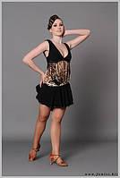Сарафан для бальных танцев с хвостом для выступлений и тренировок «Асмантус»